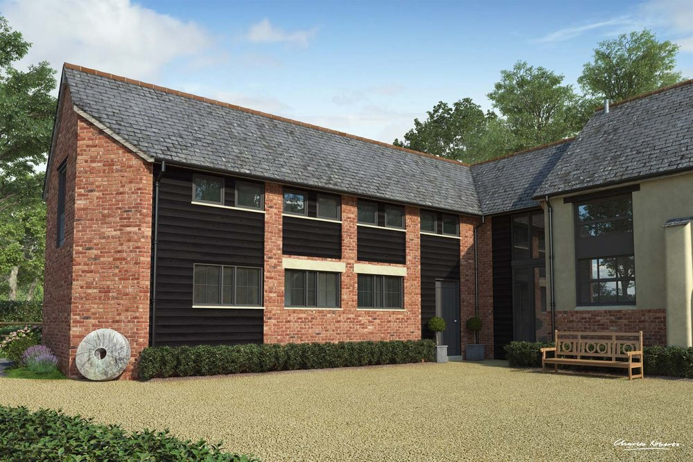 Artists impression of the small barn conversion