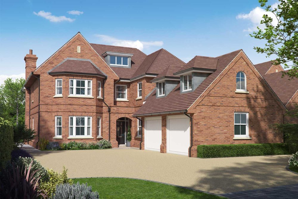Artists impression of a luxury family house