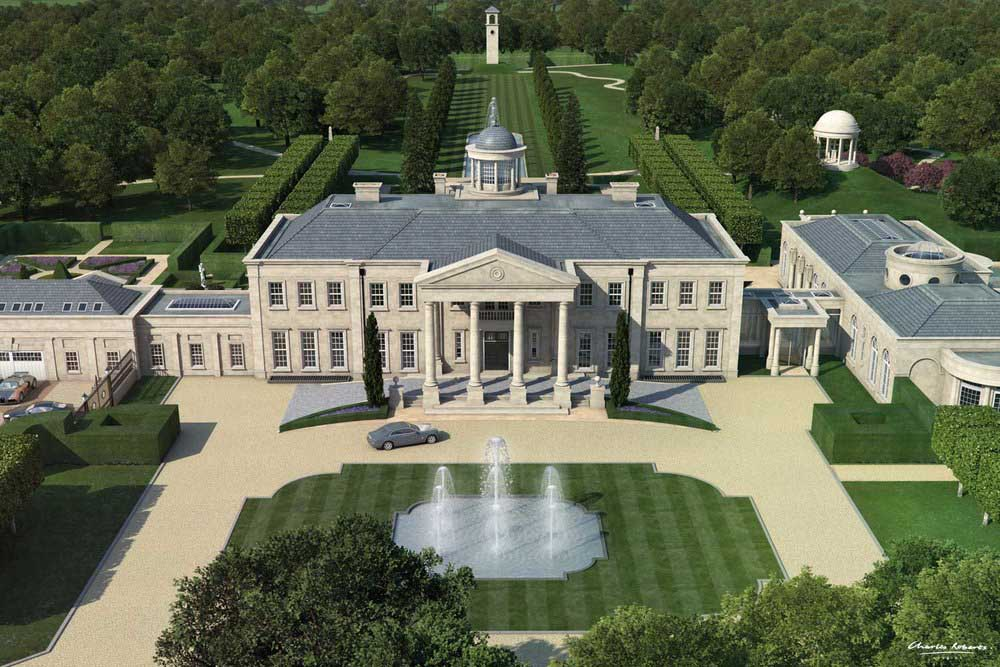 Artist impression of a new country house in Surrey