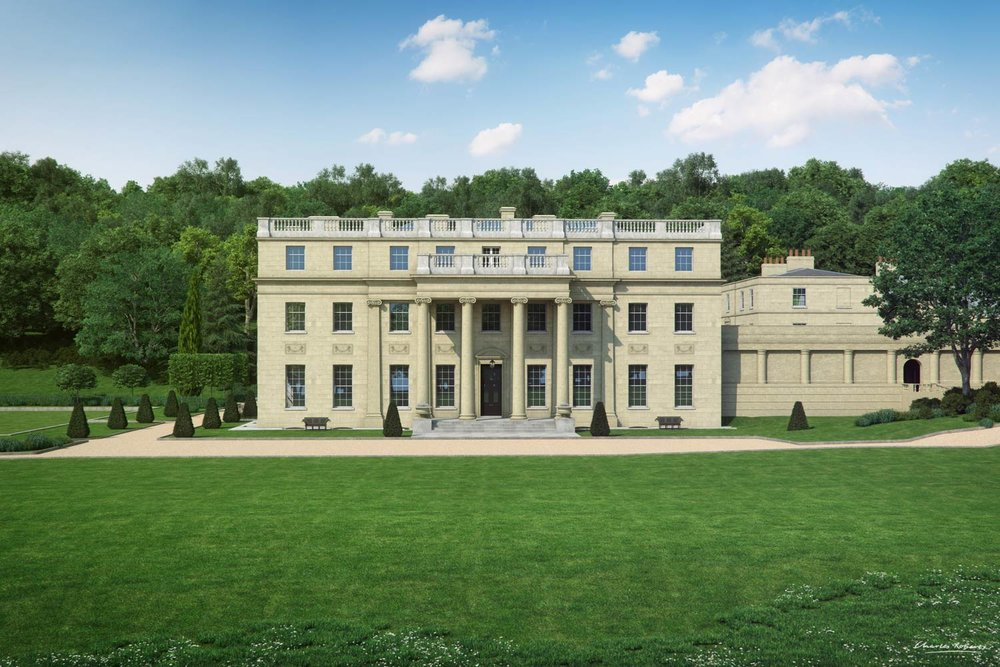 Artists impression of the portico Benham Park