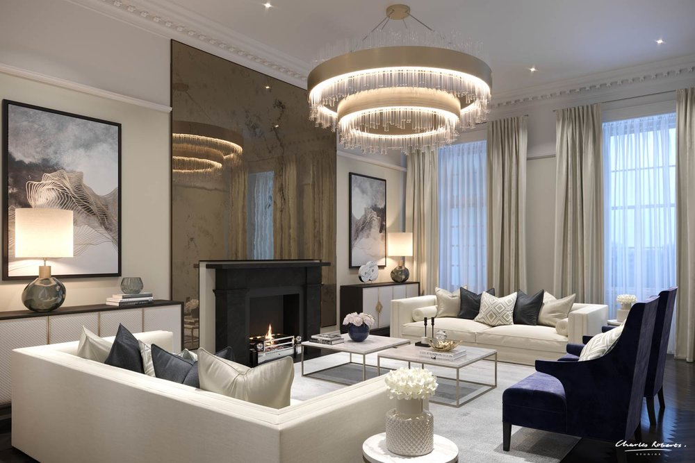 ARTISTS IMPRESSION LUXURY LIVING ROOM INTERIOR DESIGN