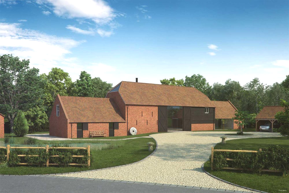 Artists impression of a barn conversion