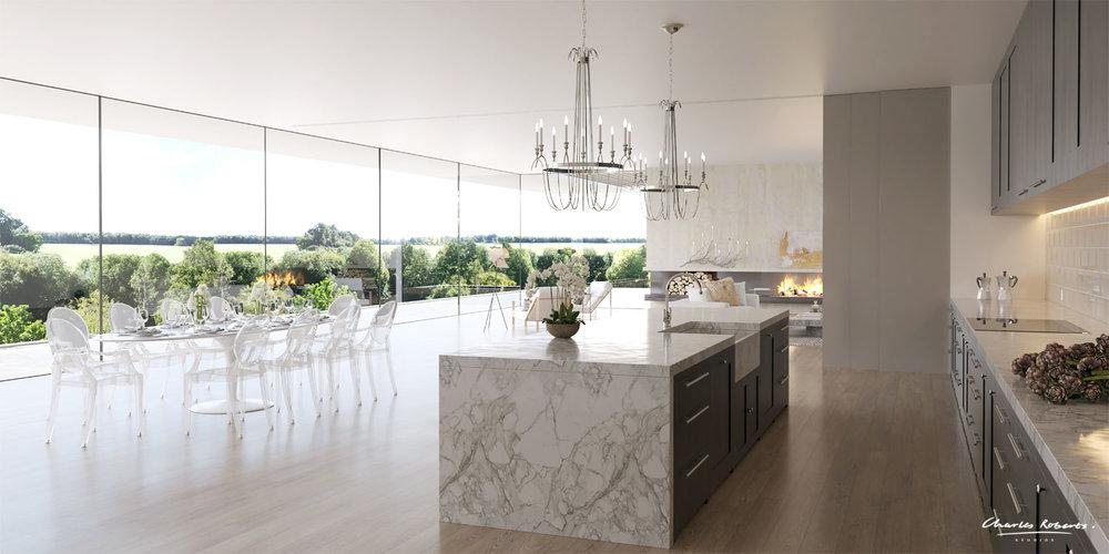 Interior CGI modern kitchen