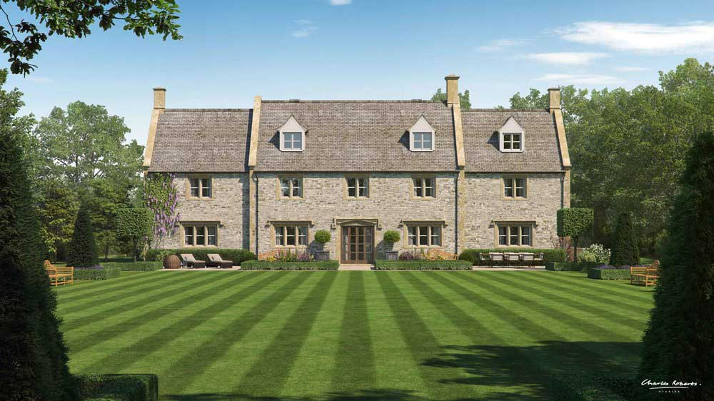Architectural visualisation new country house in the Cotswolds