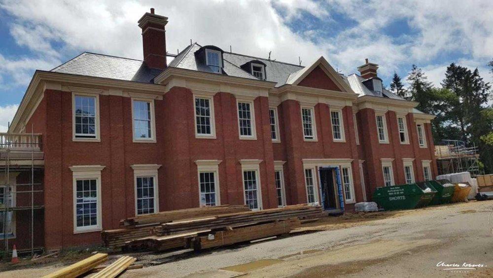 Sunningdale house under construction