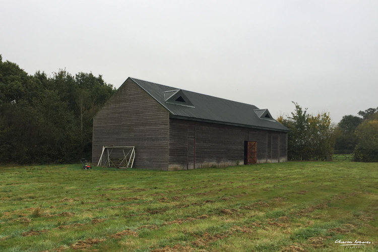 Existing side view of the barn