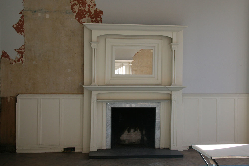 Existing drawing room, the original architectural features were retained and used in the CGI below