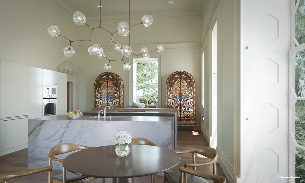 3d visualisation of a kitchen
