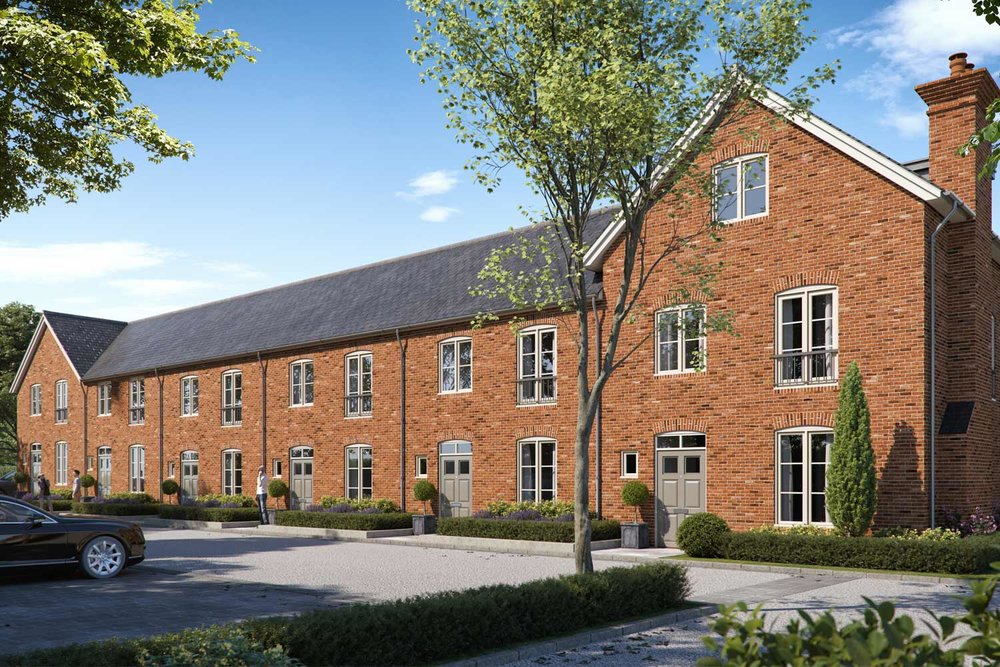 Sunny artists impression of residential development