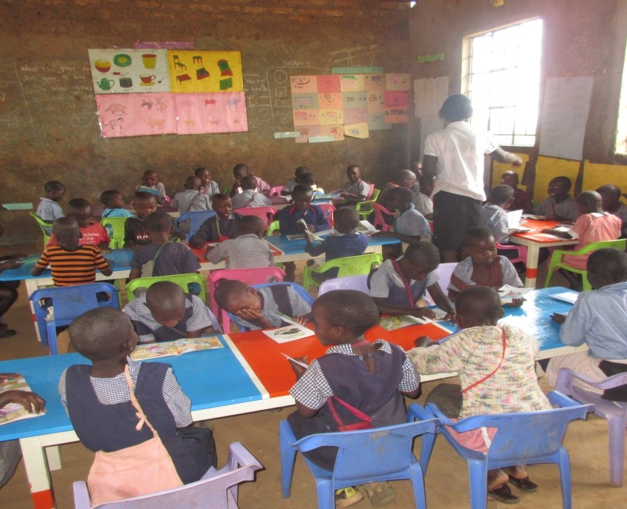 CLASSROOMS FOR YOUNG LEARNERS  We constructed classrooms and filled them with tables, chairs, books, and school supplies. Teacher housing was created as well, and with the help of many generous donors we have now seen 676 individuals pass high school with some joining universities across the country