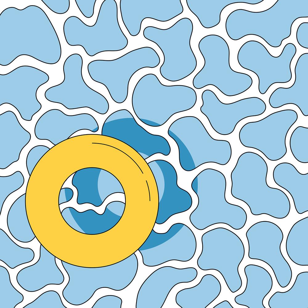 Endless summer illustration print