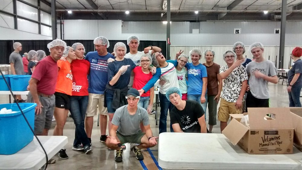 Volunteering at the Feed My Starving Children Meal Pack