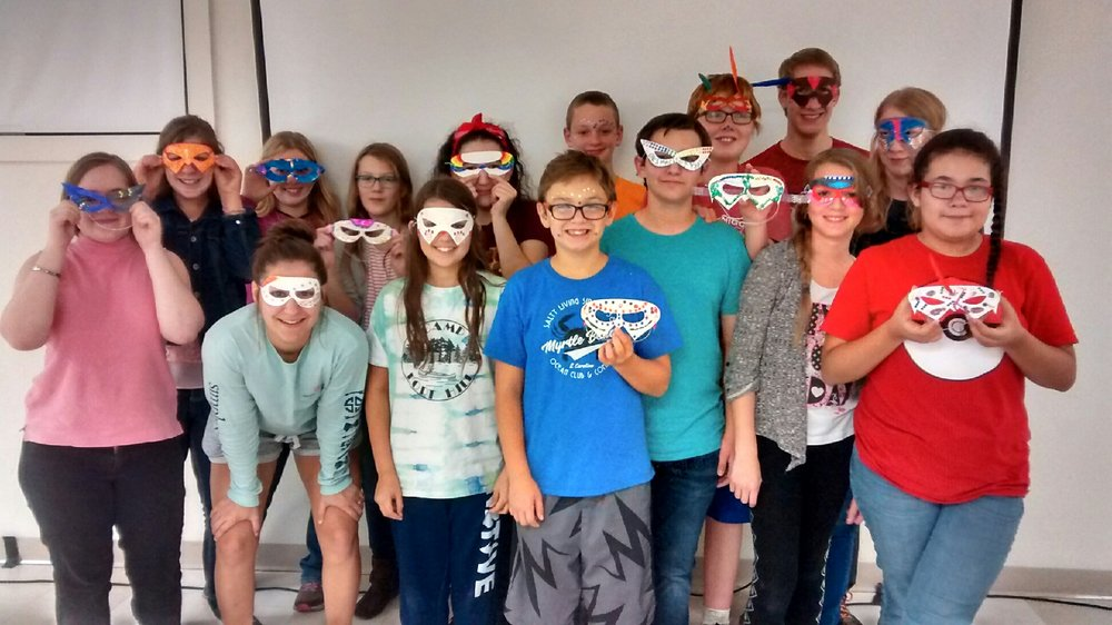 Youth lesson about what masks they might wear to hide the truth of who they are.
