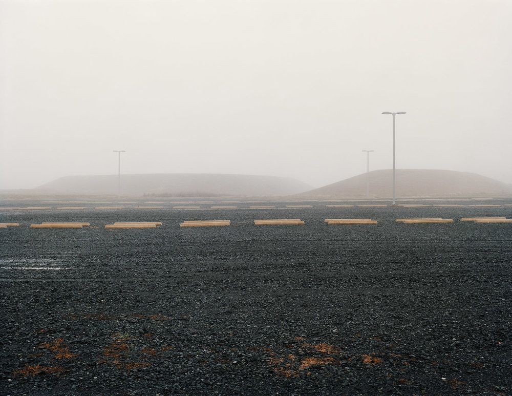 Newly expanded parking lot, Catharpin, Virginia, 2012