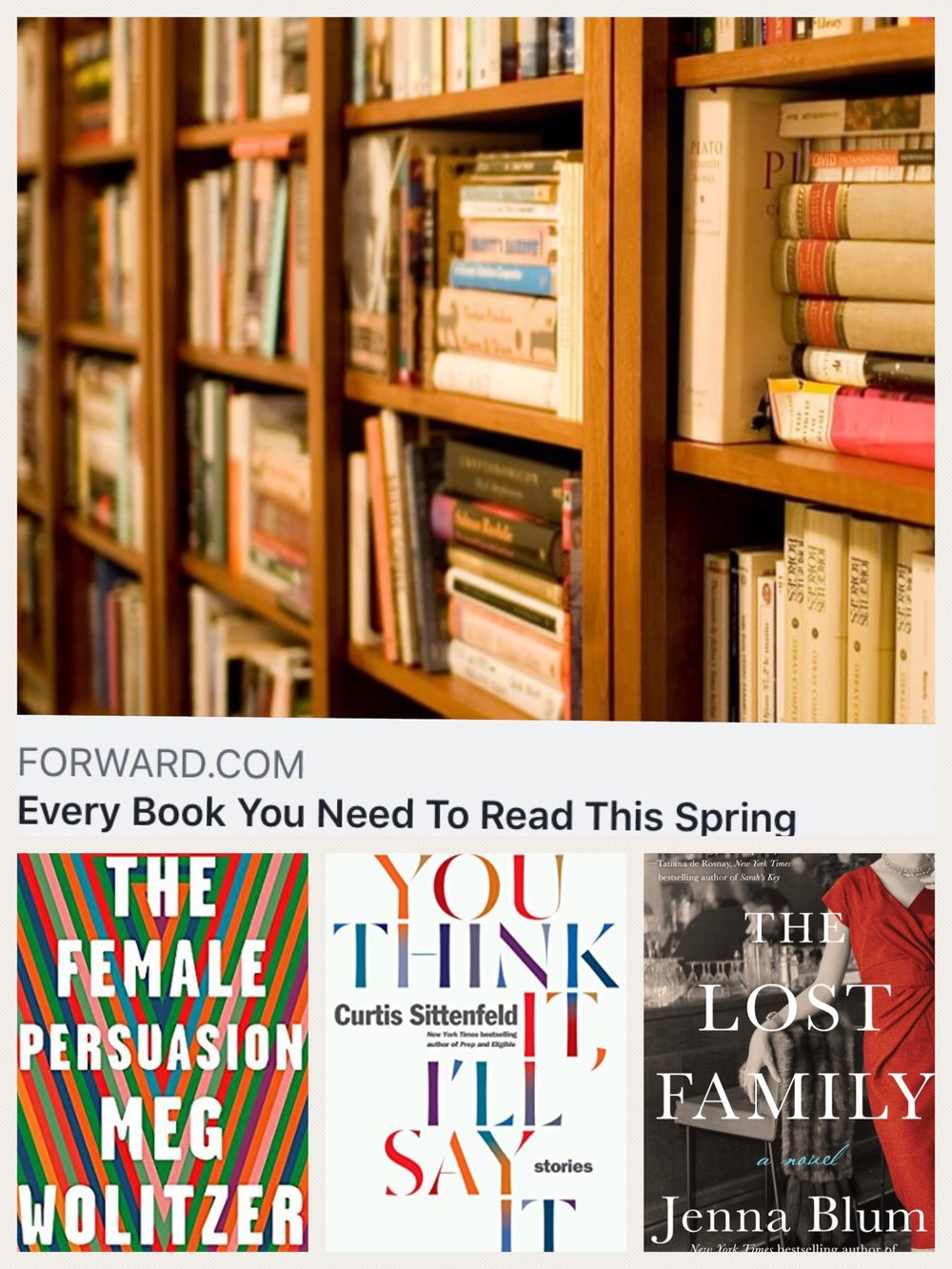The Forward features The Lost Family on its Spring 2018 Must-Read List! - March 2018: We are absolutely kvelling that The Forward recommends The Lost Family as a must-read this spring. To peruse the whole excellent list, please click here.