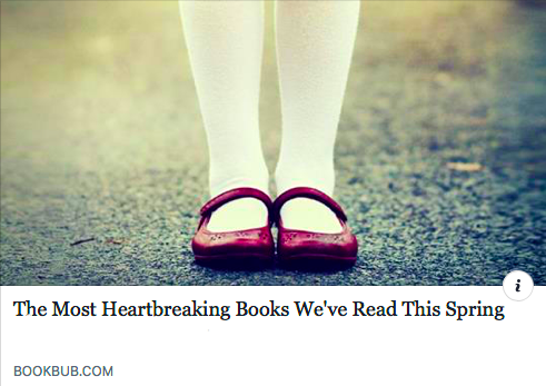 BookBub chooses The Lost Family as one of the most heartbreaking novels of 2018 - May 2018: You've gotta love a novel that makes you cry! At least, we do. BookBub named The Lost Family one of the 14 most poignant, heart-tugging books of Spring/Summer 2018. You can read why & find the whole list here.