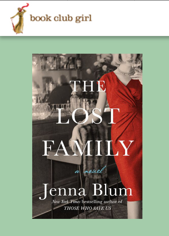 Inspiration Behind The Lost Family: Jenna's Guest Post for Book Club Girl - Readers always wonder what inspires an author to write a novel. Here is Jenna's guest post for Book Club Girl, in which she shares her inspiration for The Lost Family—including her intervewing Holocaust survivors for the Steven Spielberg Survivors of the Shoah Foundation.