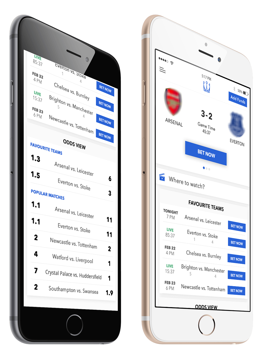 All your betting needs in one centralized app.