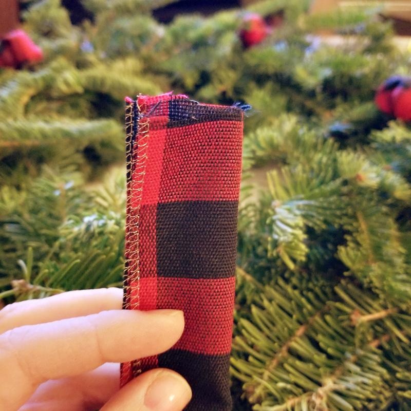 Step 5 - Create Cute Edge: Fold the ribbon in half long ways