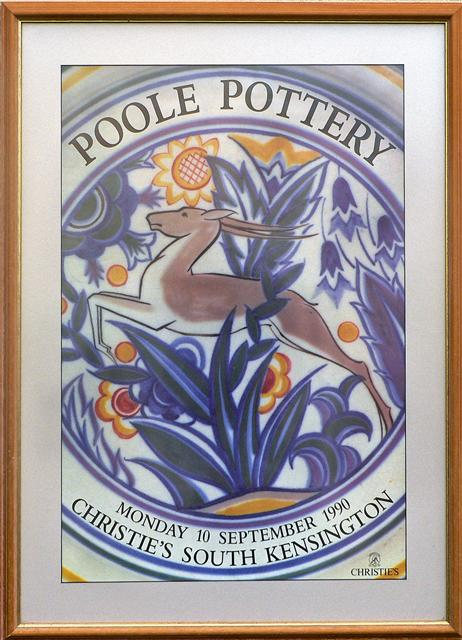 The first national specialised auction dedicated solely to the sale of Poole Pottery was held at Christies South Kensington on 2nd February 1990. - A second sale, following on from the popularity of the first was held later in the year.