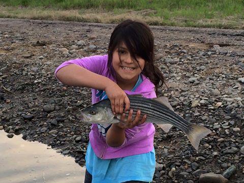 Isabel Perez first fish of season.jpg