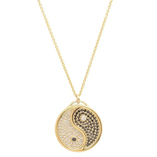 Yin yang pendant necklace w diamonds established jewelry yin yang pendant necklace w diamonds aloadofball Images