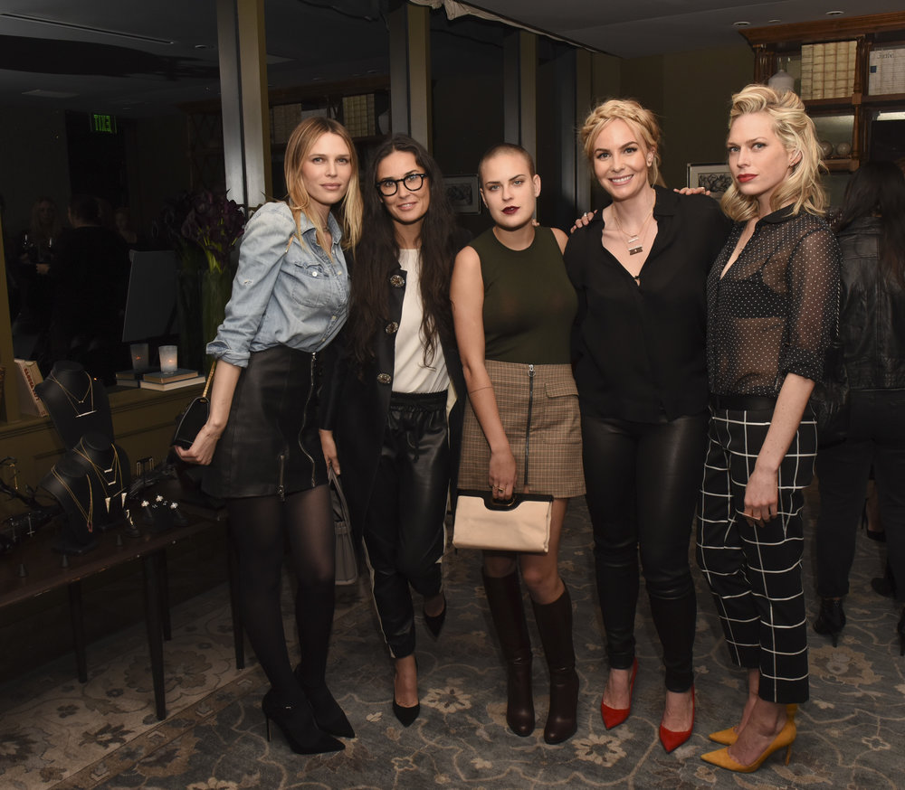 From left:  Sara Foster, Demi Moore, Tallulah Willis, Nikki Erwin and Erin Foster