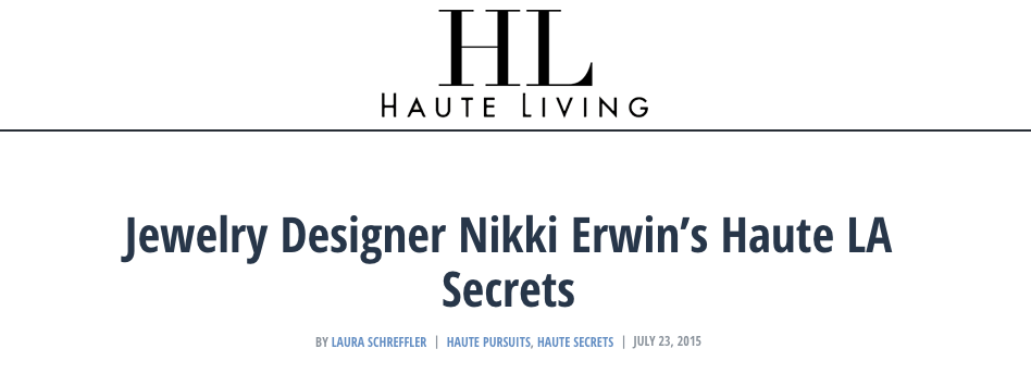 Established Jewelry Editorial Press, Haute Living
