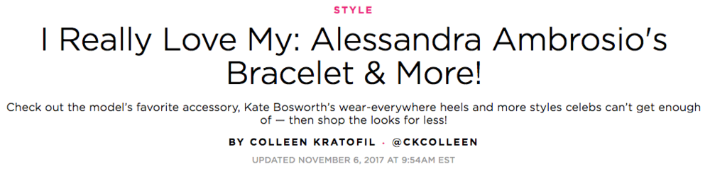 Established Jewelry Editorial Press, People Style