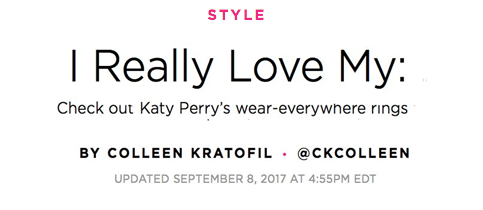 Established Jewelry Editorial Press, People Style, Katy Perry