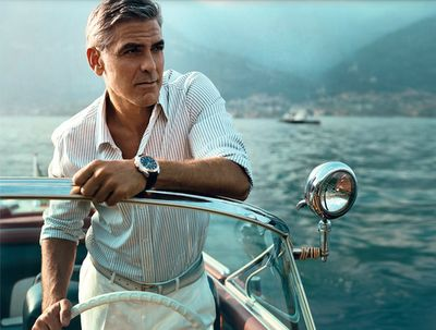 George Clooney in boat