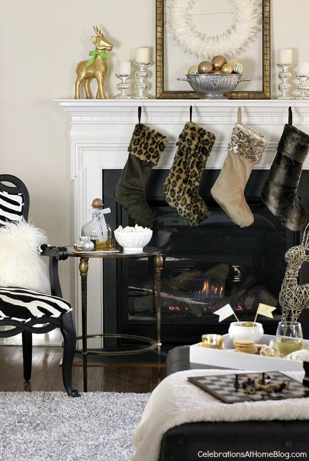 Animal Print holiday decor