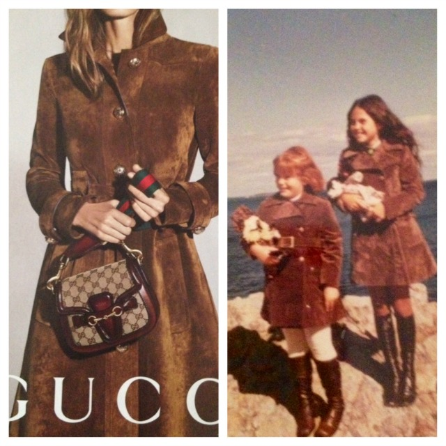 Gucci Ad and My style from when I was 10 years old are the same brown coat