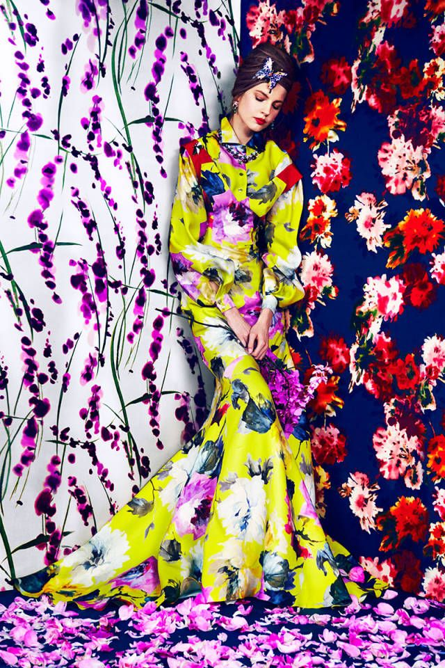 The power of flower and A burst of floral color on Harper's Bazaar Mag