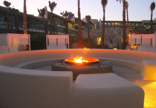 The firepit at the Grand Mayan, Los Cabos