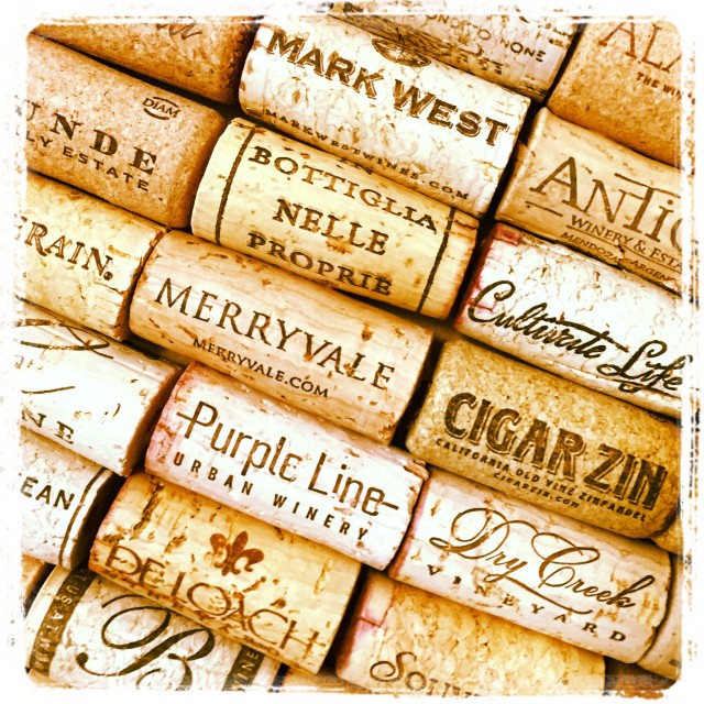 Wine corks in a vintage gold frame on Stylemindchic Lifestyle