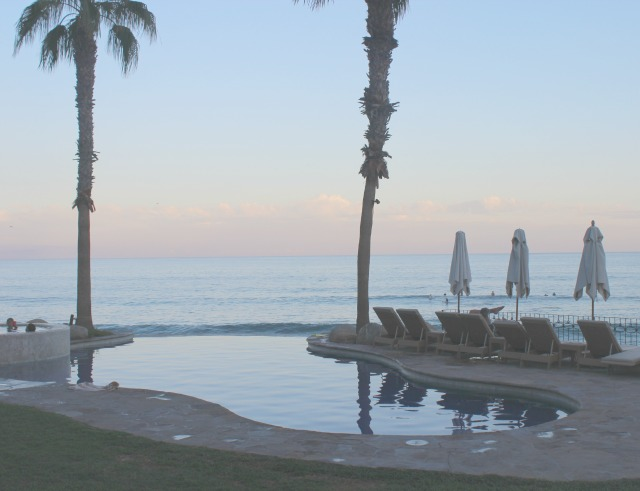 Cabo Surf Hotel and pool sunset view over the sea Surf's up on Stylemindchic Lifestyle