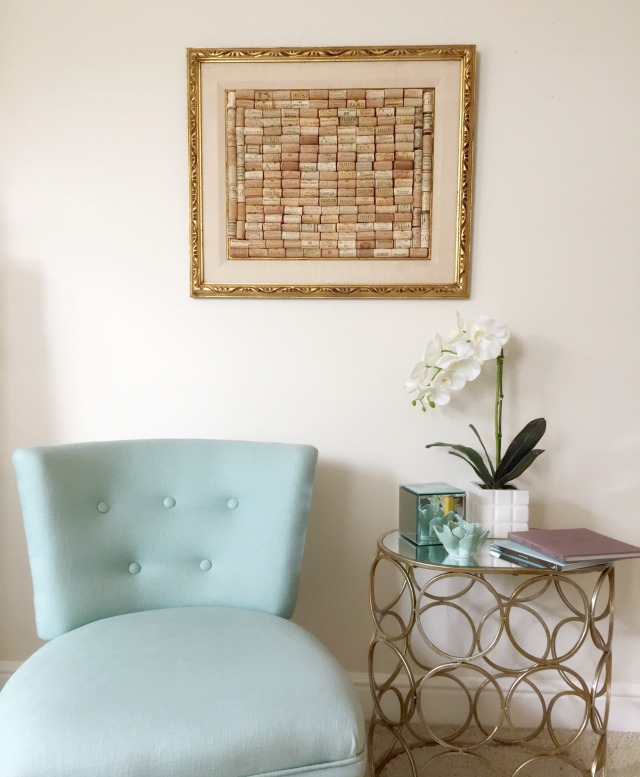 Vintage Gold Frame with Corks on Stylemindchic Lifestyle