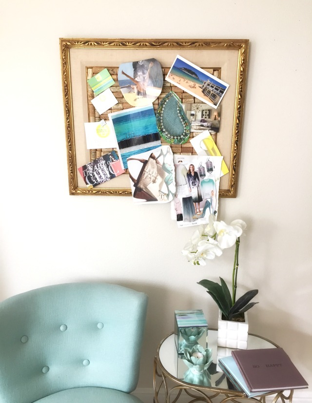 Stylemindchic Lifestyle and a style board made from a vintage frame and wine corks