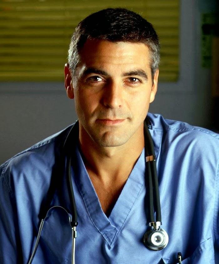 George Clooney in scrubs