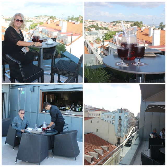 Sangria on the rooftop terrace at CS vintage Lisbon