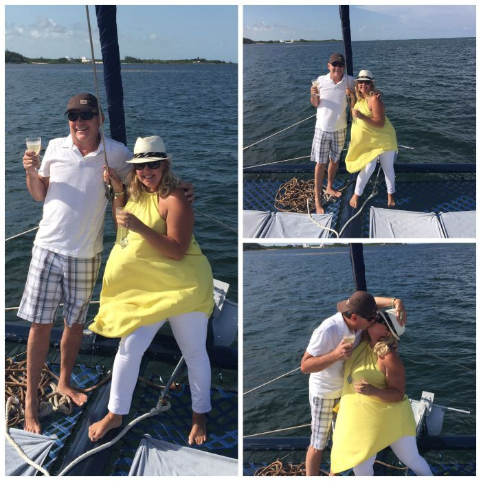 Windy day on the sailboat