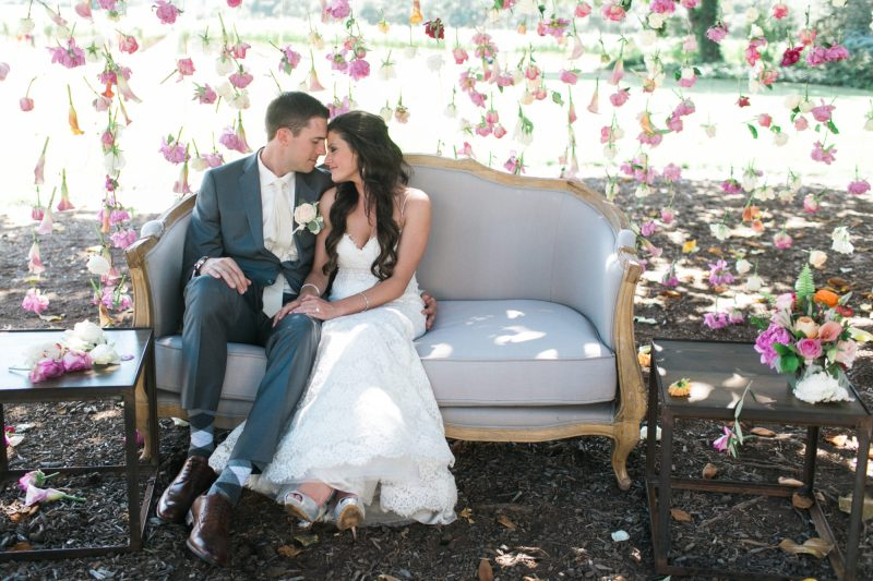wine-country-wedding-jasminestar-theknot-stylemindchiclife The newlyweds celebrating in the vineyard