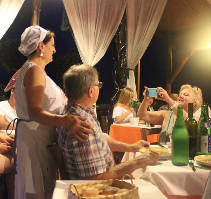 Mama makes her entrance at La Tagliata -