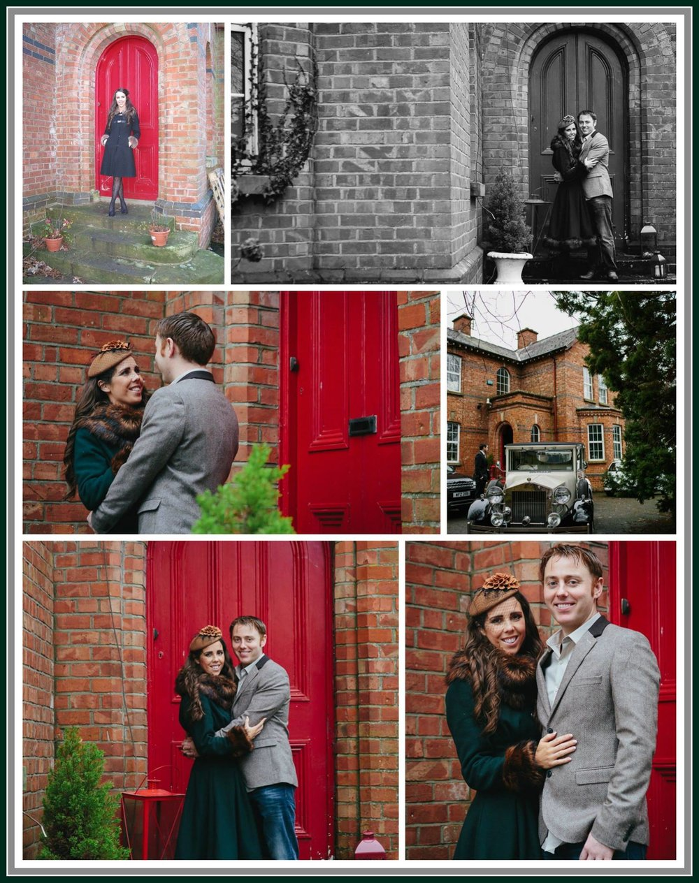 """Once In A While Right In The Middle Of An Ordinary Life Love Gives Us A Fairytale""  Far Left: This picture was taken minutes before Seamus Proposed.  The other photos where taken by  Lauren Rutherford Photography  at our engagement shoot <3  NB: This was taken before our door revamp — with  Seamus Higgins  and  Aislinn Higgins ."