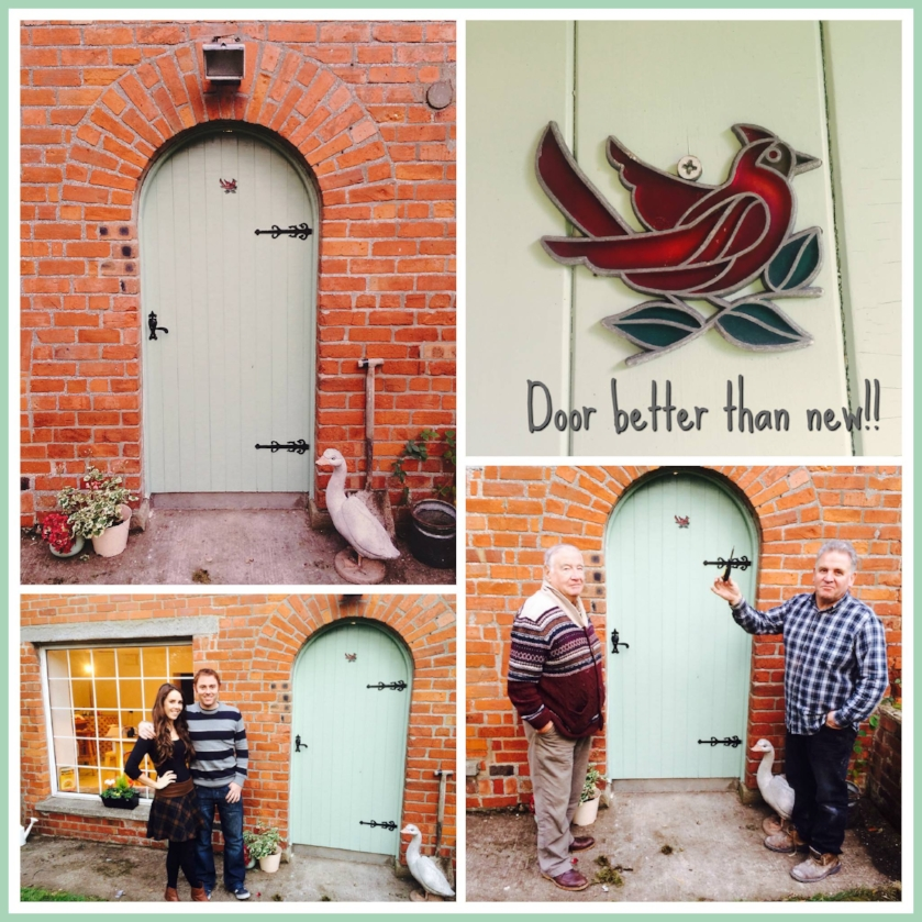 Door better than New...  Introducing my 3 favourite Men.  My Granda, my Dad & my Husband .  A big thank you to my Dad for helping me with this one.