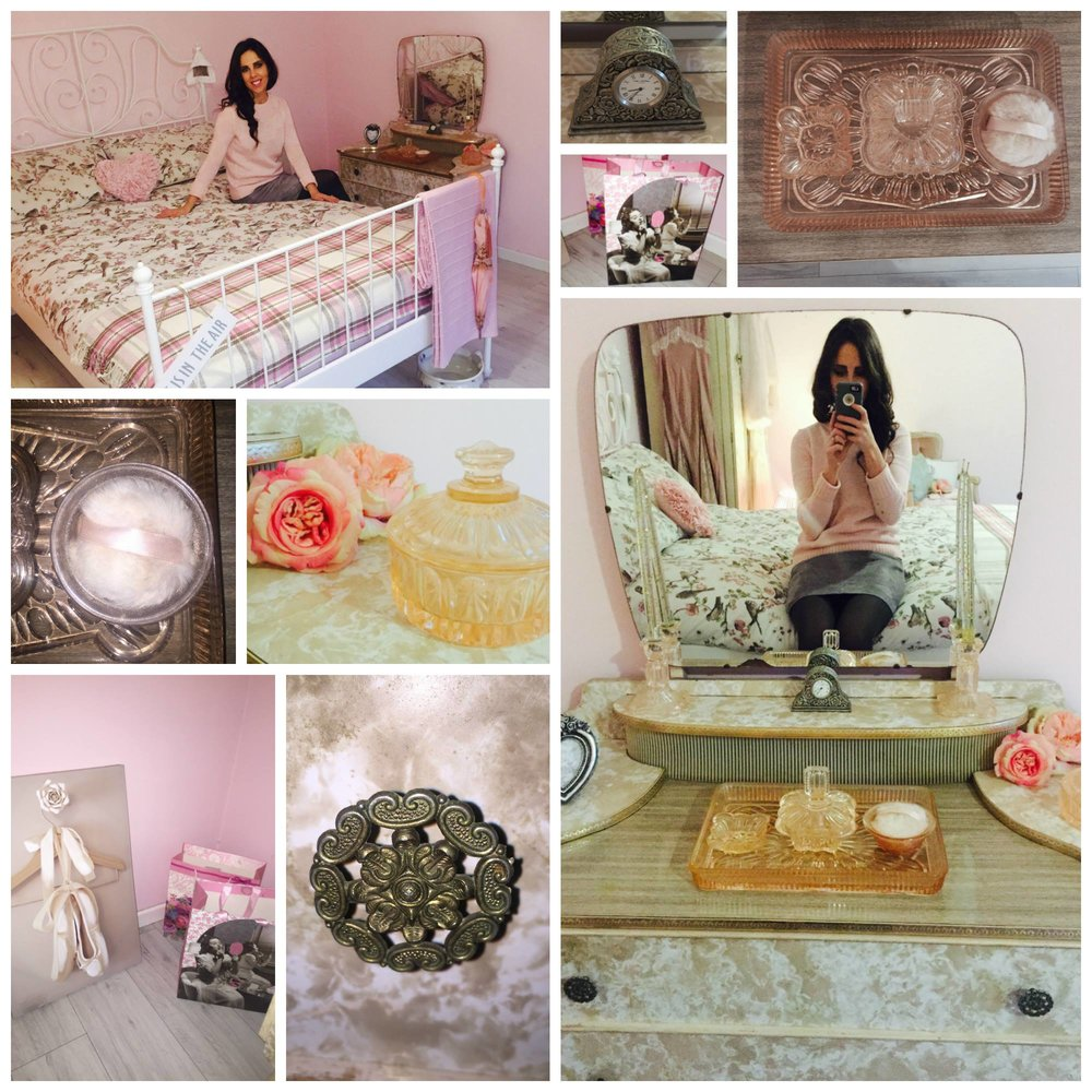 Every girl needs a dressing table and this little beauty is both feminine and functional!