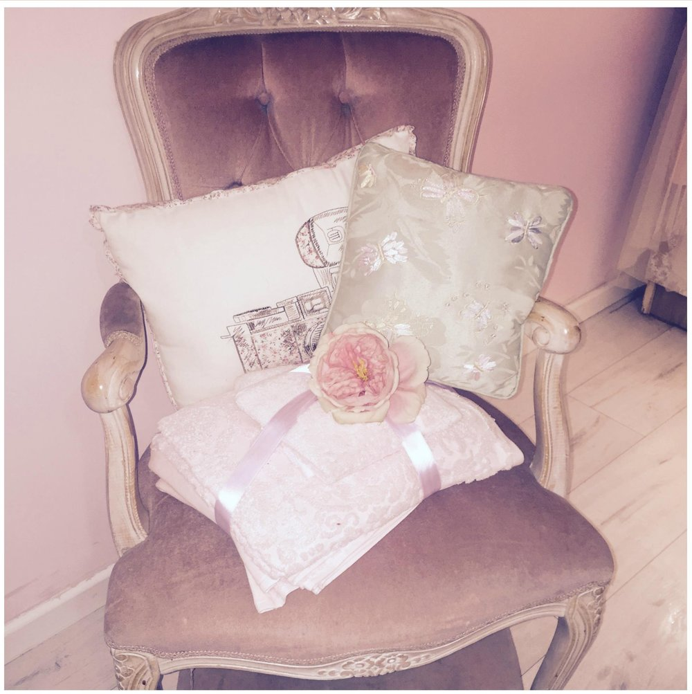 This pink chair is about 20 years old, I can't remember it not being in my room! Good pieces of furniture can stand the test of time so every now and again do invest in a nice chair, it will never date.