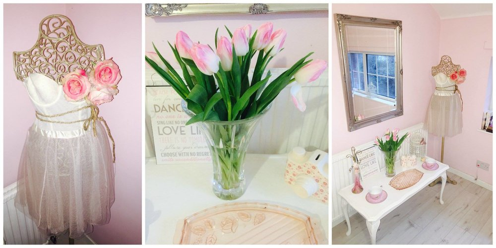 There is nothing nicer in a room than fresh flowers and these lovely little tulips are from Tescos.