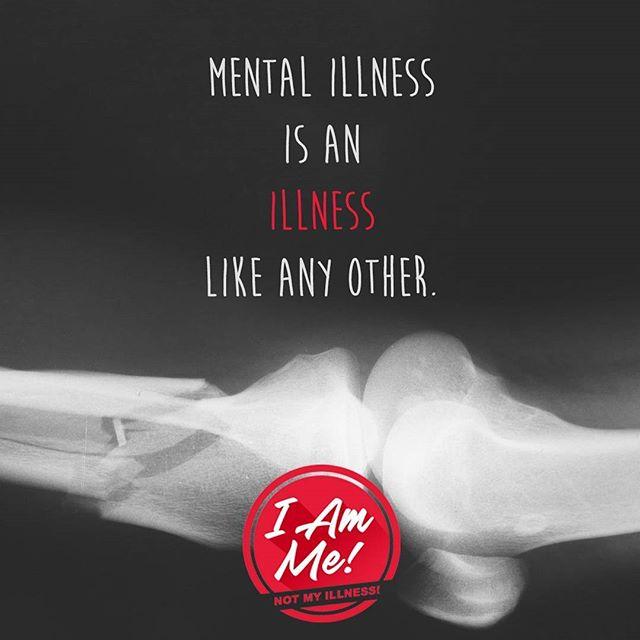 Mental Illness is an ILLNESS like any other. - - I am me! Not my illness! What is this about? Link in bio --  - - - - #endstigma #endthestigma #mentalhealth #mentalhealthawareness #stigma #bellletstalk #depression #mhsm #mentalillness #anxiety #psychiatry #psychology #health #sicknotweak #imnotashamed #keeptalkingmh #bipolar #ptsd #schizophrenia #equity #cdnhealth #healthcanada #cdnpoli